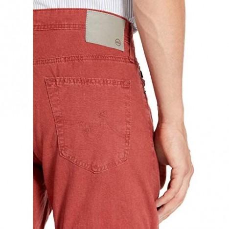 AG Adriano Goldschmied Men's The Everett Slim Straight Linen Pant