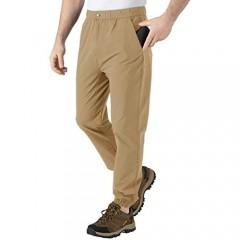 BGOWATU Men's Quick Dry Hiking Pants Straight Leg Athletic Pant Outdoor Cargo Pants for Fishing Travel Climbing