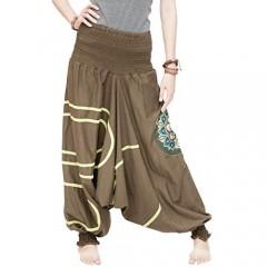 Modern Tribal Baggy Aladdin Harem Pants Stretch Jersey Cotton