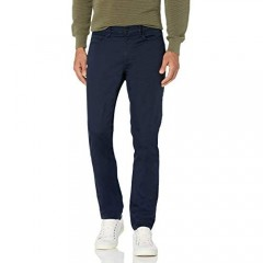 Perry Ellis Men's Slim Fit 5-Pocket Stretch Dobby Pant Dark Sapphire 36W x 34L