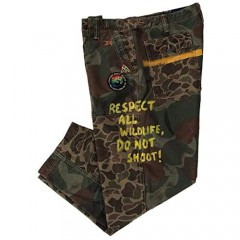 Ralph Lauren Men's Outdoors CAMO Multi Wildlife Embroidered Patched Painted Loose FIT Casual Pants