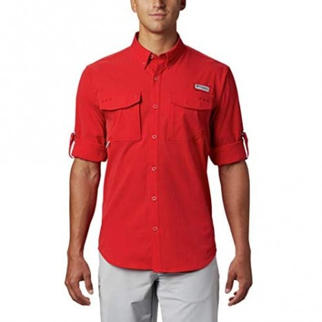 Columbia Men's Permit Woven Long Sleeve Red Spark X-Small