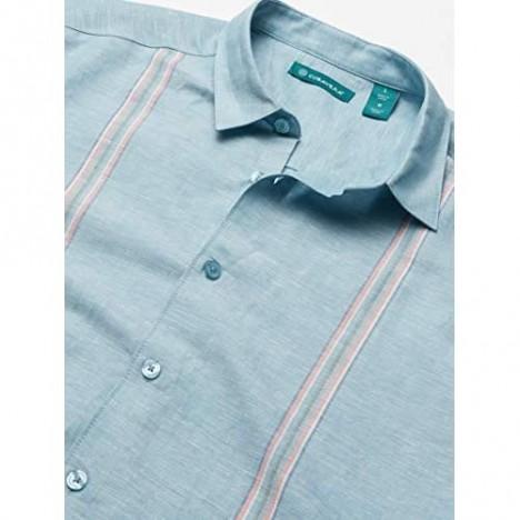 Cubavera Men's Tape Panel Shirt