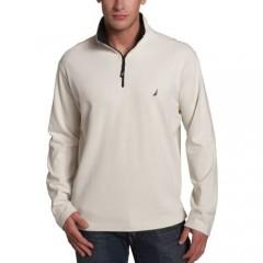 Nautica Men's Long-Sleeve Brushed 1/4 Zip Knit Active Top