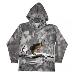 TPAZGHE 2020 Performance Fishing Hoodie UPF 50 Sunblock Shirt Long Sleeve Quick-Dry Loose Fit Fade Pattern