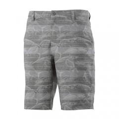 HUK Men's Fishing 21 Hybrid Walkshort Fish Market Shorts Dark Grey Heather Size 28