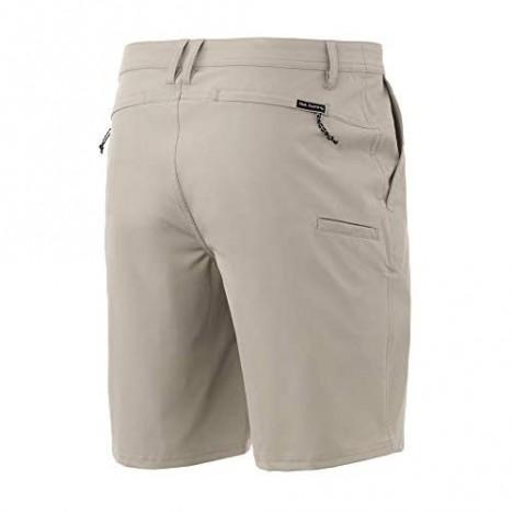 Huk Men's Reserve 20 Short   Quick-Drying Performance Fishing Shorts with UPF 30+ Sun Protection Bone 30