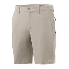 Huk Men's Reserve 20 Short | Quick-Drying Performance Fishing Shorts with UPF 30+ Sun Protection Bone 30