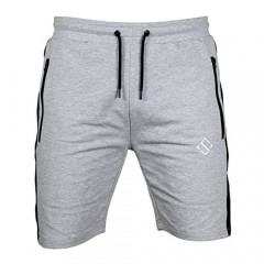 Men's Shorts Active Slim French Terry Fitted Workout Gym Shorts for Men with Zipper Pockets