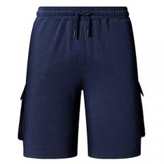 Uni Clau Men's Cargo Shorts Active Workout Gym Elastic Drawstring Cotton Sweat Shorts