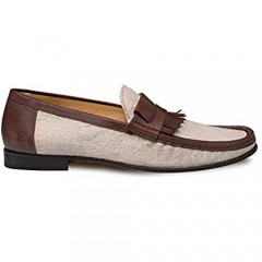 Mezlan Maggi Mens Luxury Formal Loafers - Handsewn Slip-On Moccasin with Leather Sole - Handcrafted in Spain - Medium Width