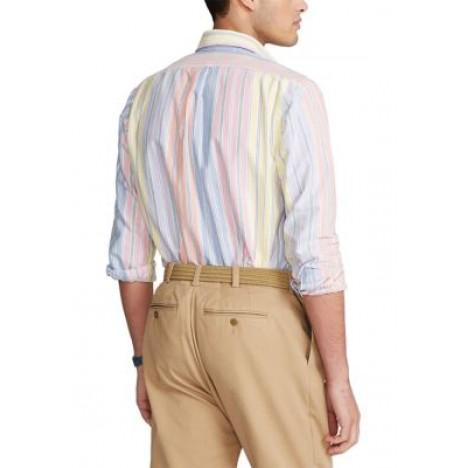 Classic Fit Striped Oxford Shirt t