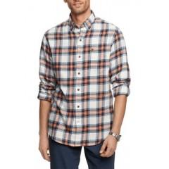 Flannel Plaid Button-Down Shirt
