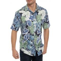 Short Sleeve Cotton Camp Shirt
