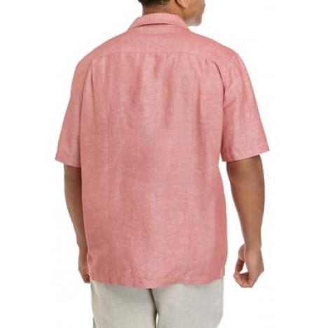 Short Sleeve Linen Button Down Shirt