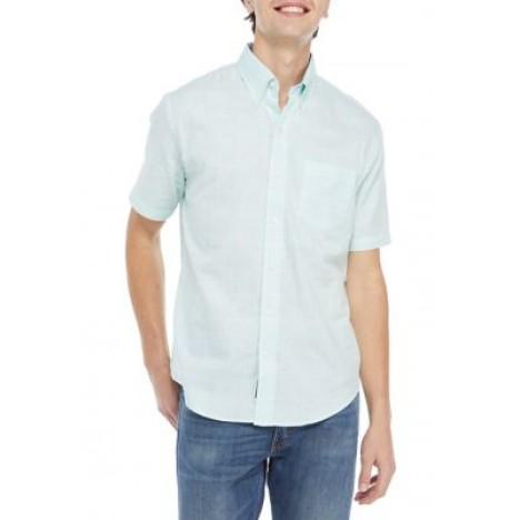 Short Sleeve Patchwork Woven Shirt