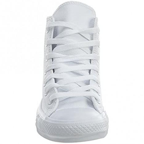 Converse Men's Chuck Taylor All Star Canvas High Top Sneaker White Monochrome 8