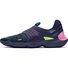 Nike Free RN Flyknit 3.0 Mens Running Trainers AQ5707 Sneakers Shoes (UK 9.5 US 10.5 EU 44.5 Midnight Navy Volt Blue 400)