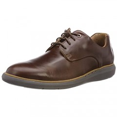 Clarks Men's Derby Lace-Up Brown Mahogany
