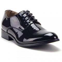 Men's Classic Patent Leather Formal Tuxedo Oxfords Dress Shoes