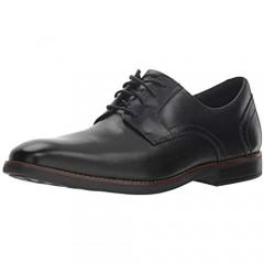 Rockport Men's Slayter Plain Toe Oxford Black 080 W US