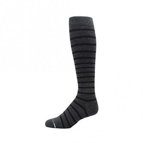 4 Pairs Men's Dr. Motion Athletic Traveler Graduated Compression Knee High Socks