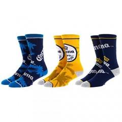 Corona Beer 3-Pack Athletic Crew Socks Set