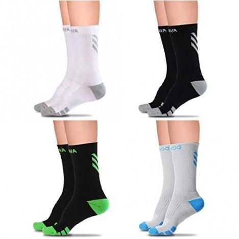 Dovava Dri-tech Compression Crew Socks (4/6 Pairs) Comfort Anti-Blister Boost Circulation