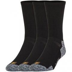 Gold Toe Men's Powerlites Crew Sock (2 PK (6PAIRS)Large(Shoe Size 9-12.5) Black)