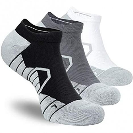Hylaea Athletic Running Socks for Men & Women Cushioned Wicking Compression No Show Socks