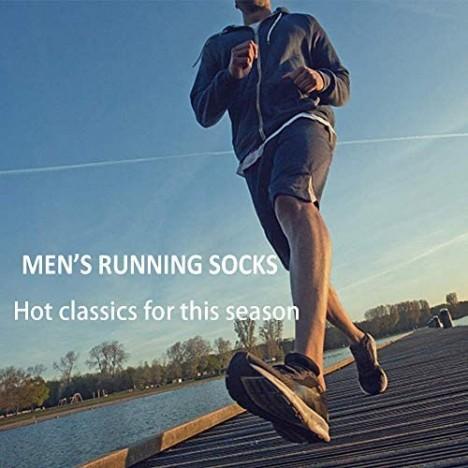 Men's Low Cut Athletic Socks Performance Comfort No Show Running Socks Sports Cushioned Tab