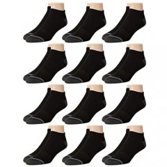 Nautica Mens Stretch Comfort Cushioned Athletic Performance Low Cut Socks with Moisture Control (12 Pack)