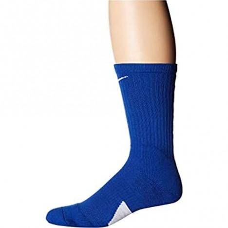Nike Elite Basketball Crew Socks Large (Fits Men Size 8-12 Women Size 10-13) SX7626-463 Royal White