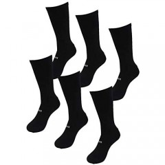 RBR Silver Infused Athletic and Dress Crew Socks - Moisture Wicking Anti Smell Socks (3 Pairs)