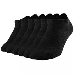 SOX TOWN Men's No Show Socks with Moisture Wicking Performance Cushion Running Low Cut 6 Pairs