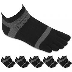 Toe Socks Five Finger Socks No Show Running Socks for Men[5Pairs]
