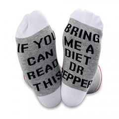 TSOTMO 2 Pairs Diet Dr Pepper Gift If You Can Read This Bring Me A Dr Pepper Novelty Socks For Men Women