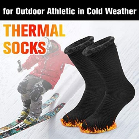 Winter Warm Thermal Socks for Men Women Busy Socks Extra Thick Insulated Boot Heated Crew Socks For Extreme Cold Weather