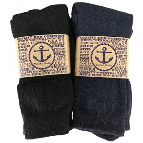 Yacht & Smith Mens and Womens Thermal Winter Socks Warm Cold Resistant Bulk Pack