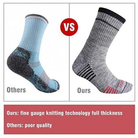 Men's Hiking Walking Socks FEIDEER Multi-Pack Wicking Cushioned Outdoor Recreation Hiking Crew Socks
