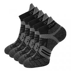Toes&Feet Men's Anti Odor Quick-Dry Cushion Low-Cut Compression Running Socks