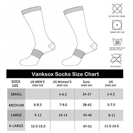 Vanksox Men's Cotton Moisture Wicking Extra Heavy Cushion Athletics Working Crew Socks