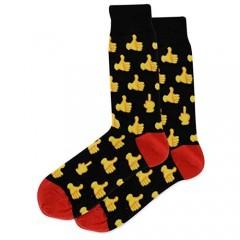 Hot Sox Mens Thumbs Up Crew Socks