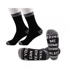 JXGZSO2Pairs Johnnie Walker Lover Socks Whiskey Gift If You Can Read This Bring Me Some Johnnie Walker Socks
