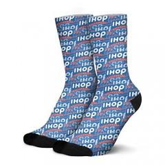 Lencenser Ihop Crew socks for mens Work socks for mens Funny Socks Cool socks and Novelty socks for mens gifts