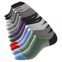 No Show Low Cut Socks Mens Cotton Casual Invisible Mesh Non-slip Durable Breathable Socks