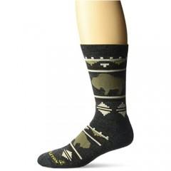 Pendleton Camp Crew Socks Roaming Bison Charcoal Large(9-12)