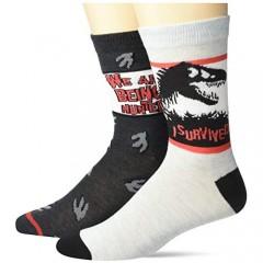 Universal mens Jurassic Park 2 Pack Crew Socks
