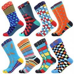 Bonangel Fun Socks Funny Socks for Men Novelty Crazy Crew Dress Socks Cool Cute Food Graphic Animal Socks