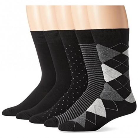 Essentials Men's 5-Pack Patterned Dress Socks